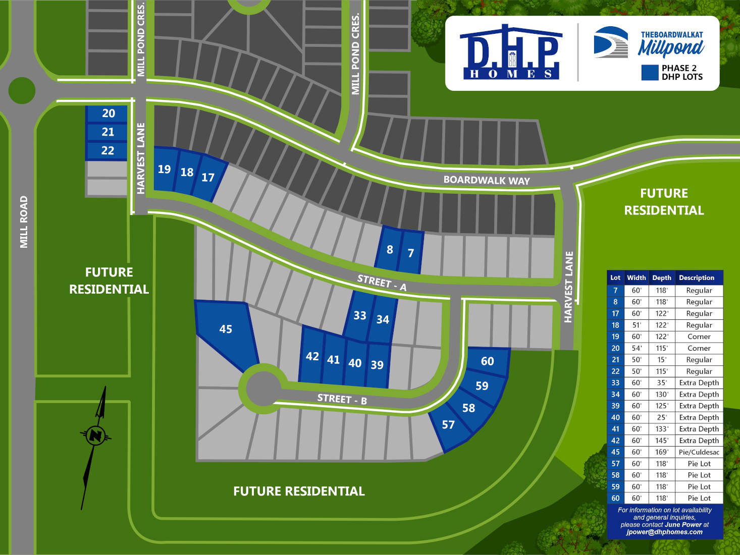 dhp homes the boardwalk at millpond phase 2 lots